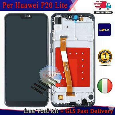 LCD Display Huawei P20 Lite ANE-LX1 Touch Screen Schermo Assembly + Frame Nero