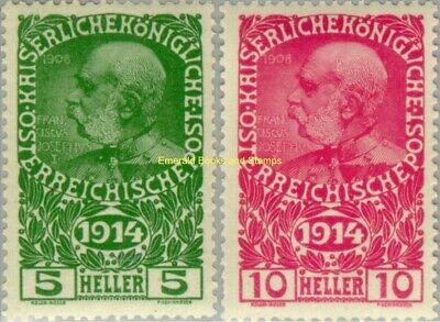 EBS Austro-Hungarian Empire 1914 War Widows and Orphans 178-179 MNH**