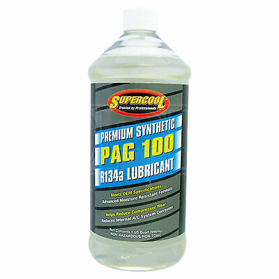 Supercool PAG 100 Synthetic Air Conditioning Lubricant R-134a R134a - 946ml 32oz
