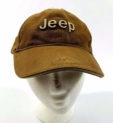 a79adb3f148d7c JEEP Trail Rated Mens Brown Embroidered Logo Baseball Trucker Hat Cap