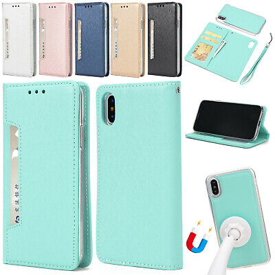 For iPhone XR XS Max 6 7 8 Plus SE Magnetic Detachable Leather Wallet Case Cover