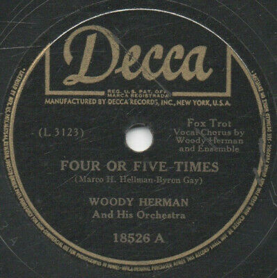 """78er Jazz Swing Woody Herman Orchestra """"Four Or Five Times"""""""