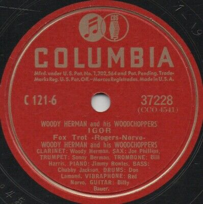 """78er Modern Jazz Woody Herman a.h. Woodchoppers """"Nero's Conception"""""""