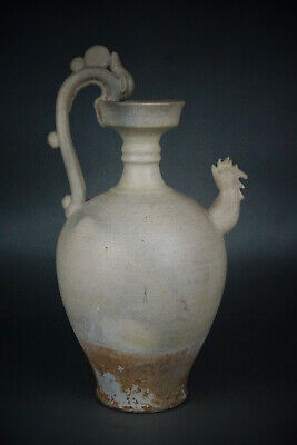 A Fine Collection of Chinese 7thC Tang White Glaze Pottery Dragon Phoenix Pots