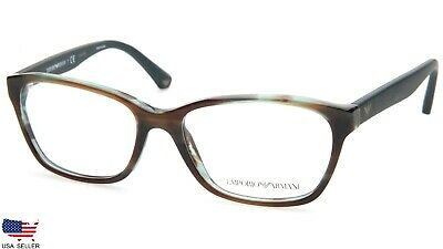 d7a6363a27 NEW EMPORIO ARMANI EA 3060 5388 STRIPPED GREEN /BROWN EYEGLASSES 52-16-140