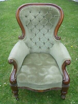 Antique Mahogany Armchair William IV For Restoration