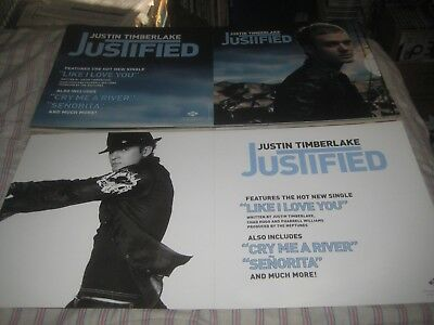 JUSTIN TIMBERLAKE-(justified)-1 POSTER FLAT-2 SIDED-12X24 INCHES-NMINT!!