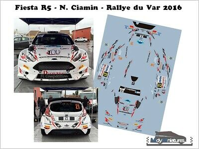 DECALS 1//43 REF 1694 FORD FIESTA R5 YOUNG RALLYE DU MONT BLANC 2018 RALLY