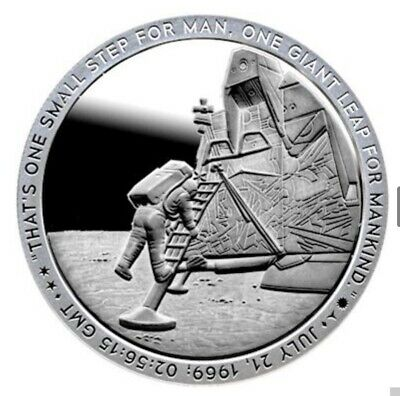 "Apollo 11 ""Small Step"" Silver Coin 1oz .999 Fine Silver Proof Like *5,000 MINTED"