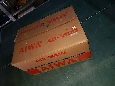 AIWA - AD 1600 Stereo Cassette deck with Dolby - Boxed ULTRA RARE Serviced