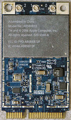 Genuine Macbook A1181 A1260 A1226 Wireless WIFI Airport Card AR5BXB72