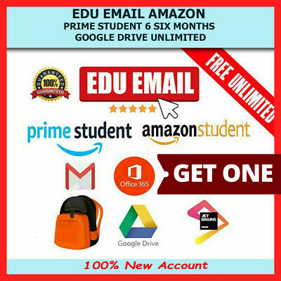 Edu Email 6 Months Amazon Prime Google Drive Unlimited Office365 Instant Delivry