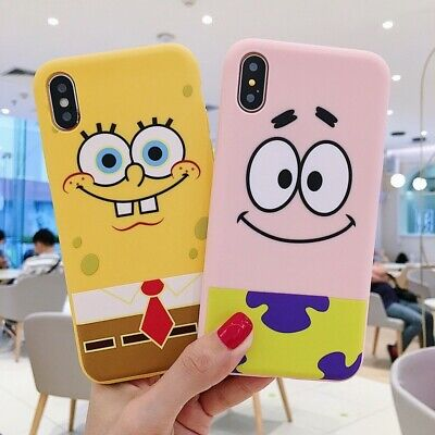 SpongeBob Soft TPU Shockproof Phone Case Cover For iPhone 7 6 8 11 Pro XS Max XR