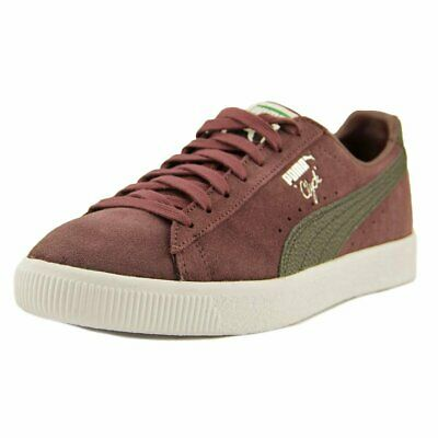 reputable site 20d4e 51619 PUMA Clyde NYC Men Round Toe Suede Sneakers, Winetasting Puma Black, Size  8.5