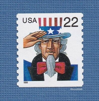 Scott #3353 Uncle Sam 22c (Coil Single) 1999 - Perf 9.75 Vert. - Mint NH