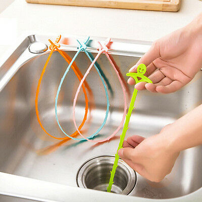 Kitchen Sink Drain Cleaner Tool Bathroom Toliet Removal Clog Hair Dredge Tool KW