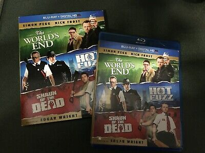 Shaun of the Dead/Hot Fuzz/The Worlds End (Blu-ray Disc, 2013, 3-Disc Set)