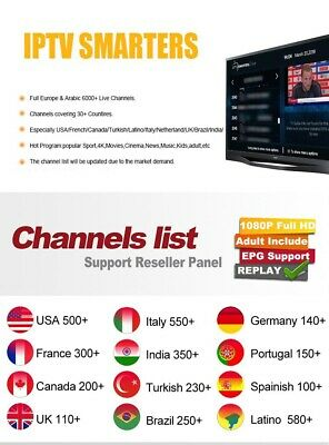 Smart Iptv Abonnement 12 Mois Full Hd 6000 Chaines/Android/Mag/M3U/Vod/Vl