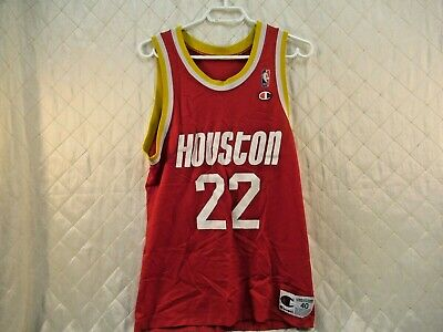 e3cad5bec90 Vintage Houston Rockets Clyde Drexler No 22 1990s Red Champion Jersey Size  40