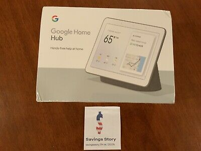 Google Nest Home Hub with Google Assistant Charcoal - GA00515-US NEW Sealed