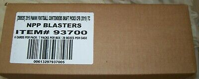 2019 Contenders Draft Picks Football sealed blaster case 20 boxes of 7 2 auto ea