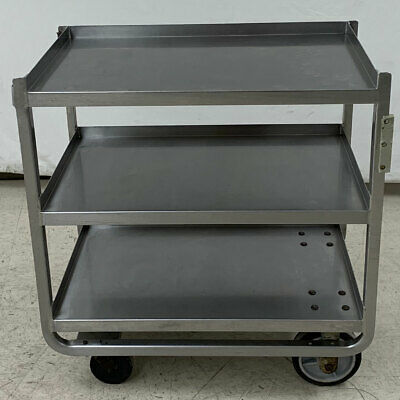 "Lakeside 944 Stainless Steel 36.5L x 21.5""W Utility Cart 1,000 lbs. Capacity"