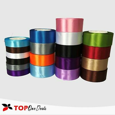 HIGH QUALITY DOUBLE SIDED SATIN RIBBON  20/40mm 13 COLOURS & 8 SIZES  WEDDING