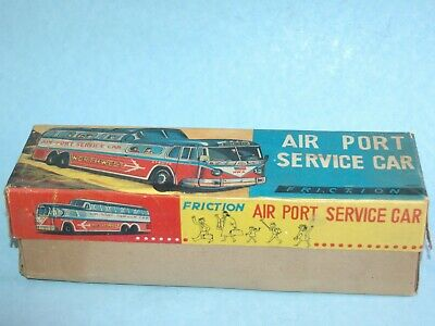 Illustrated BOX ONLY Plaything JAPAN AIRPORT SERVICE CAR Northwest Airlines 1960