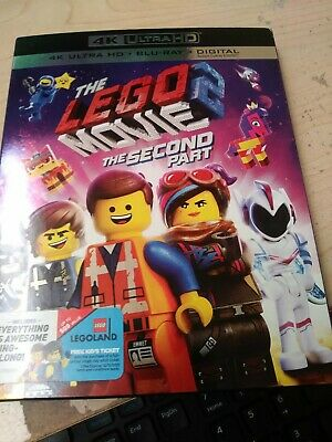 The LEGO Movie 2 The Second Part (4k Ultra HD & Blu Ray) W/ SLIPCOVER No Digital