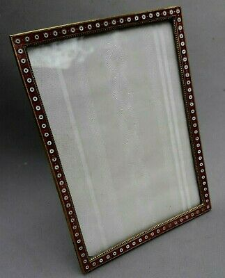 Antique French Ormolu Picture Frame Bronze Enamel Original 6  x  4 1/2 inches