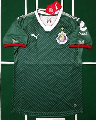 official photos e3347 99a01 CHIVAS DE GUADALAJARA AWAY Stadium Black Soccer JERSEY 2017 ...