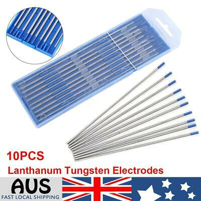 10Pcs TIG Tungsten Electrodes 2% Lanthanated 2.4mm Welding PREMIUM QUALITY