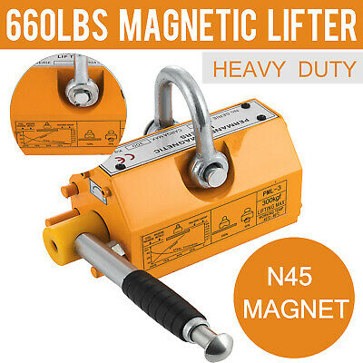 300 KG Magnetic Lifter Steel Heavy Duty Crane Hoist Lifting Magnet 660 LB