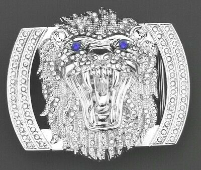 New Lion Diamonds Designer Luxury Pin Buckle Only For 38 Mm Belt Buckles Unisex