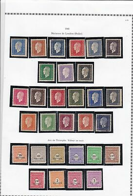 france 1945 stamps page ref 19824