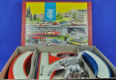 Blechbahn / Tin Track: TCO Autobahn Packung, Western Germany, 1950-60, OVP / box