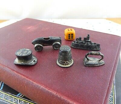 Vintage 1930's Metal Monopoly Game Tokens Good Girl Thimble Replacement Parts