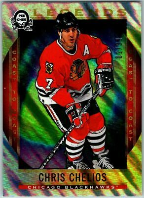 2018-19 OPC COAST TO COAST POLAR LIGHTS LEGENDS CHRIS CHELIOS Card # 206 / 99