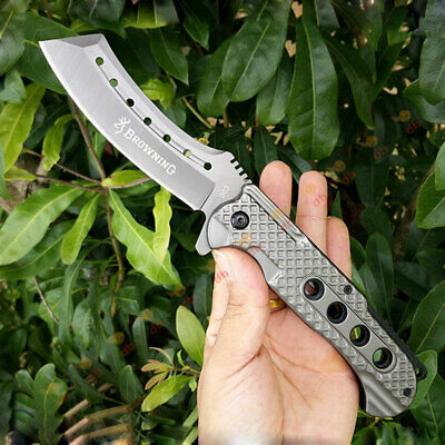 Browning Folding Knife Pocket Tactical Survival Camping Hunting Fishing Stiletto