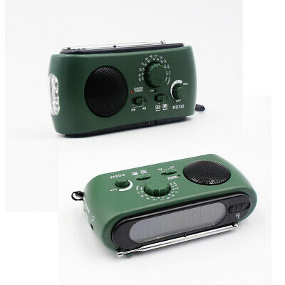 New Dynamo Wind Up, Solar, & USB Rechargeable AM FM Radio Portable