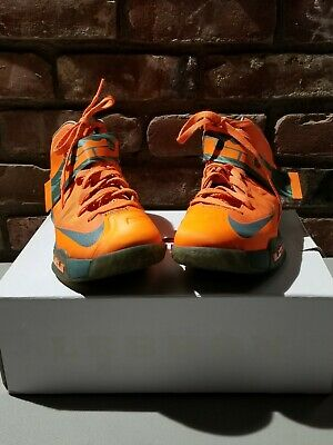 92c93a6bf60 Nike LeBron VI Zoom Soldier Mens Basketball Shoes Total Orange Size 8 525015 -800