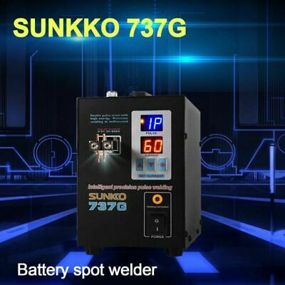 SUNKKO 737G Spot Welder LED Dual Pulse Battery Spot Charger 800A 0.05-0.2mm