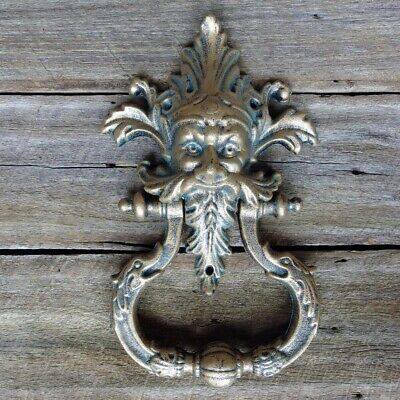 Man Cast Iron Door Knocker Antique Style New