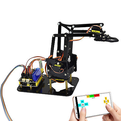 UNO R3 4DOF HC-06 12FN20 9G Servo Robot Mechanical Clamp Arm Kit for Arduino EU