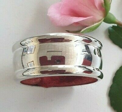 Vintage, Lovely Simple Design Silver Napkin Ring Probably Circa 1930's