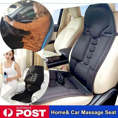 2 IN 1 7 Motor Back Massage Seat Pad Massager Chair Car Home Massaging Cushion