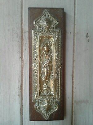 Original Art Nouveau William Tonks cast brass door finger plate