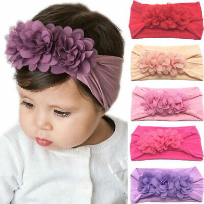 Big Flower Toddler Baby Infant Girl Kids Headband Hair Band Headwear Accessories