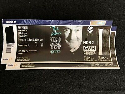 Phil Collins, 2 Tickets HDI Arena Hannover, Konzert Innenraum B1 15.06.19