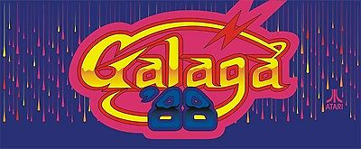 Galaga 88 Arcade Marquee For Reproduction Header/Backlit Sign